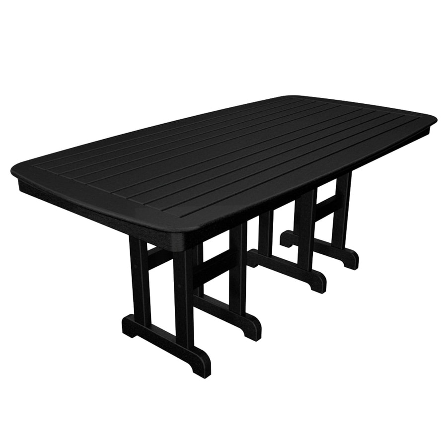 Trex Outdoor Furniture Yacht Club 71.5-in W x 36.75-in L Rectangle Plastic Dining Table