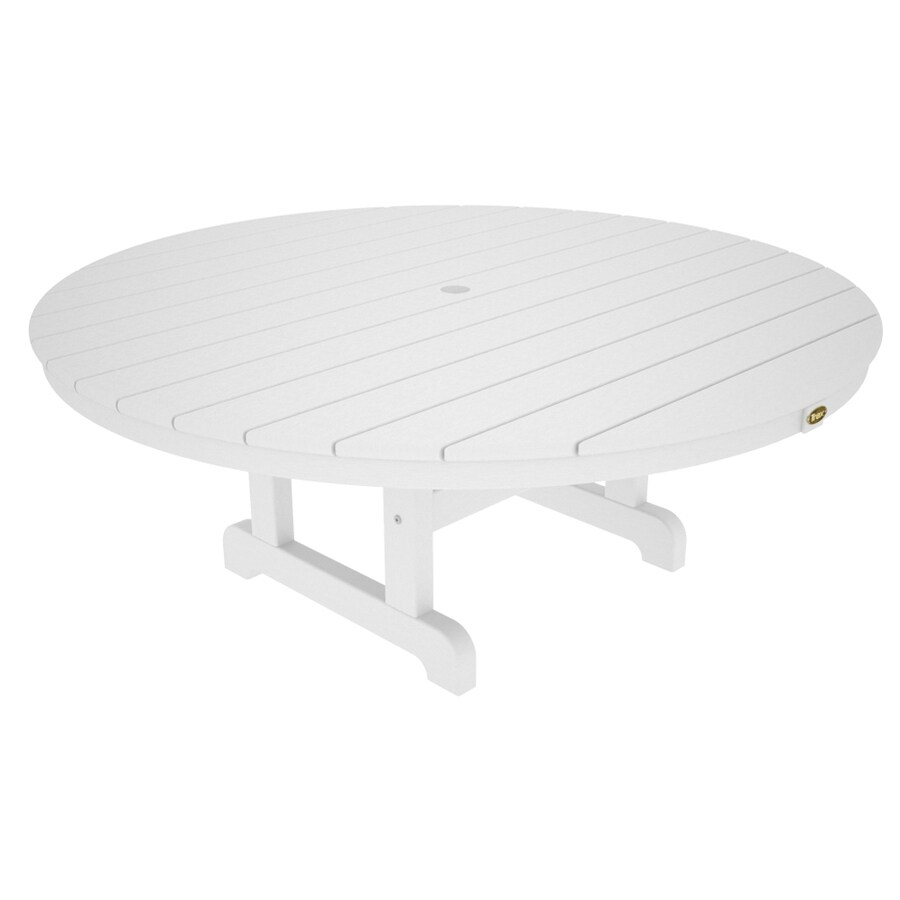 Shop Trex Outdoor Furniture Cape Cod 48 In W X 48 In L Round Plastic Coffee Table At