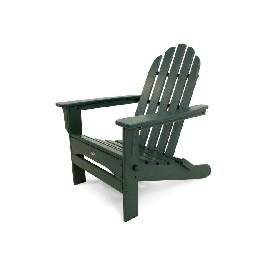 Trex Outdoor Furniture Cape Cod Rainforest Canopy Plastic Folding Patio Adirondack Chair