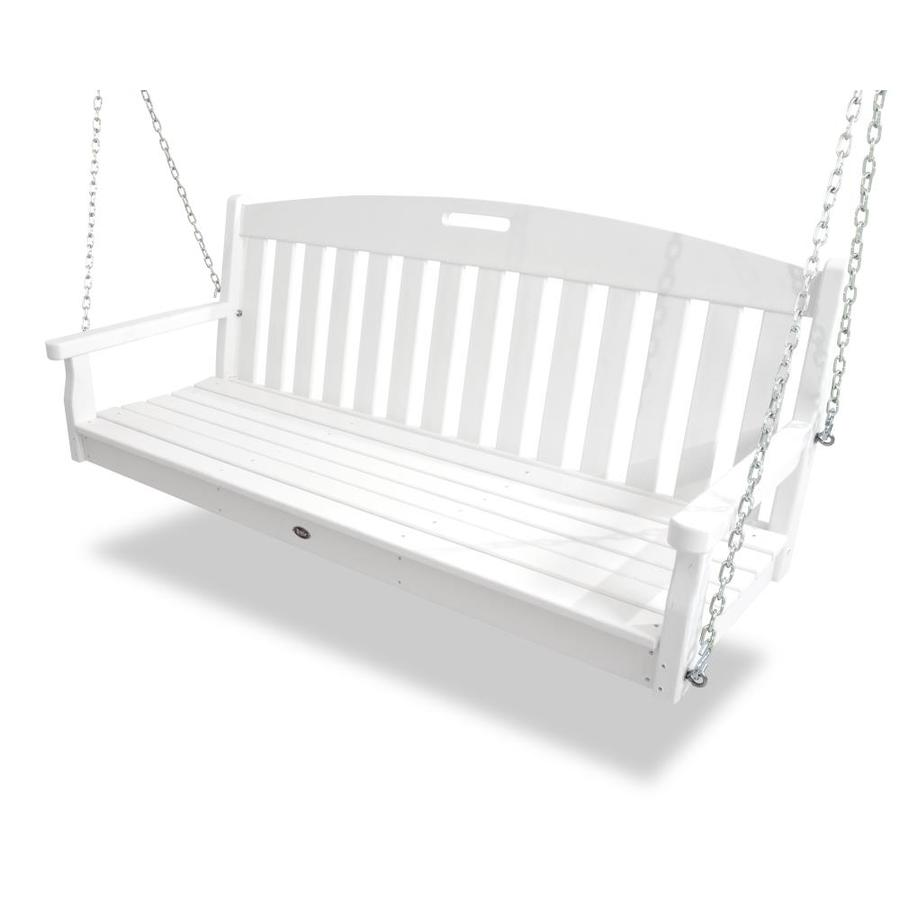 Trex Outdoor Furniture 3-Seat Plastic Casual Classic White Swing