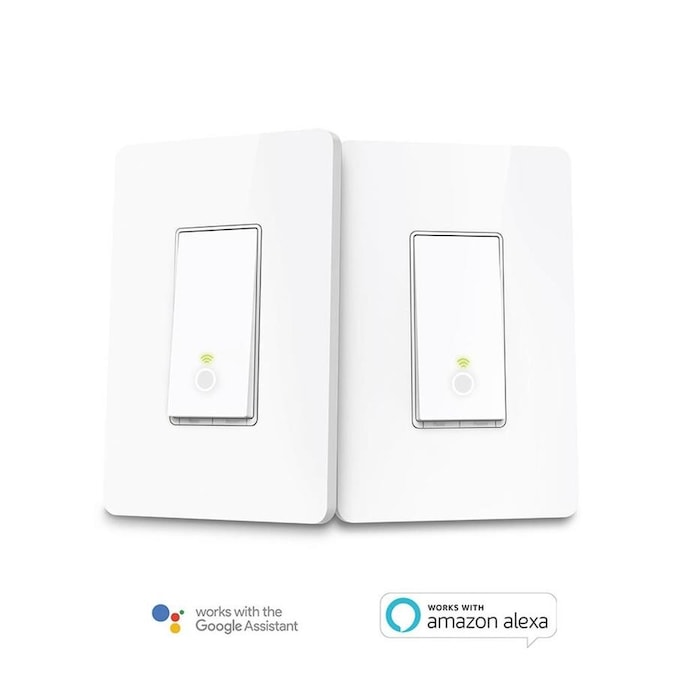 TP-Link 5-Amp White Smart Push Light Switch with Wall