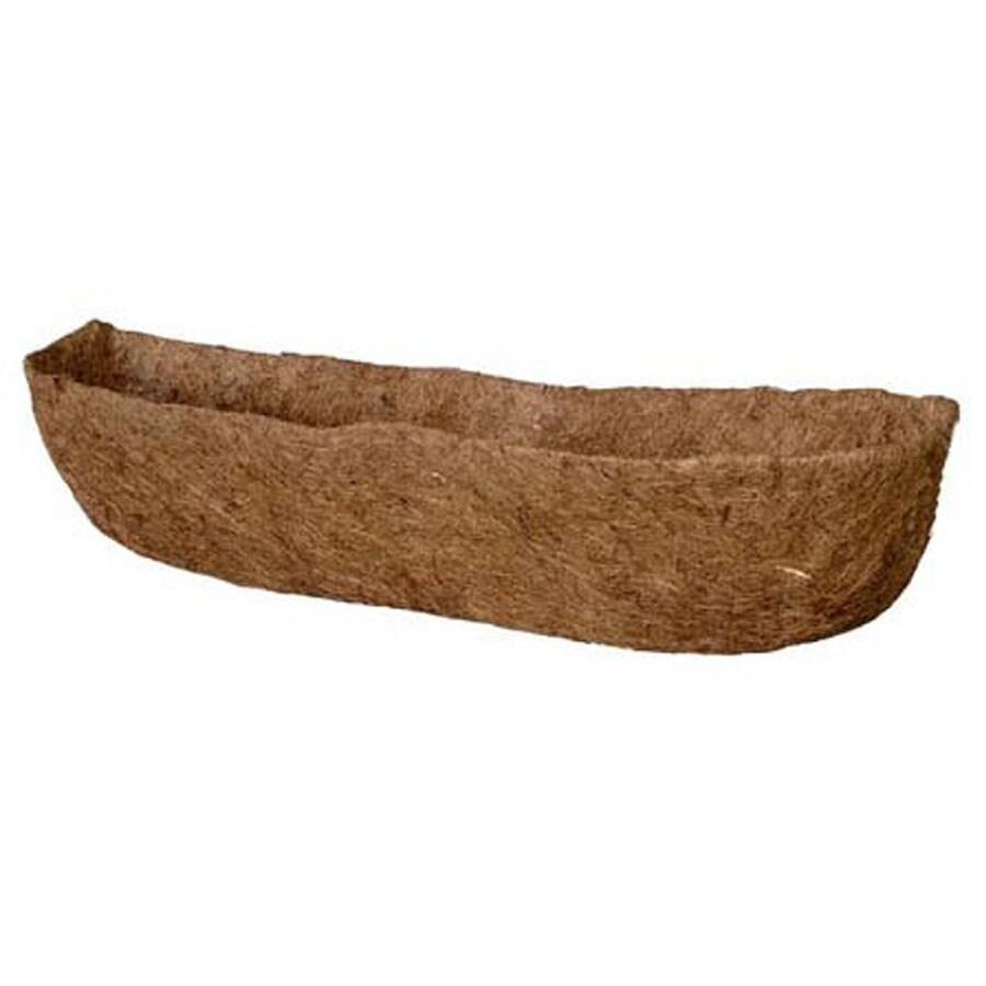 Garden Treasures 10.5-in L x 36-in W x 5.1-in D Coconut Fiber Planter Liner