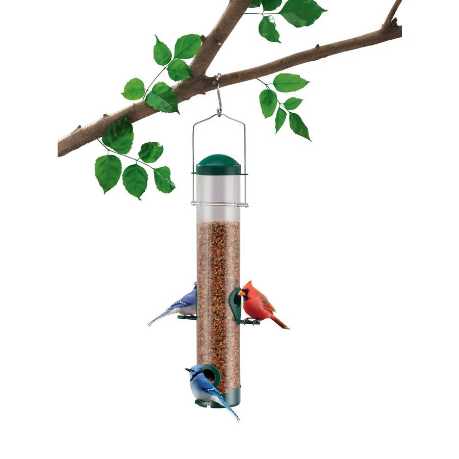 Garden Treasures Plastic Tube Bird Feeder