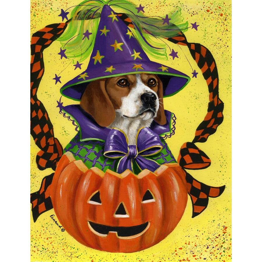 Precious Pet Paintings 1.5-ft x 1.04-ft Beagle Halloween Flag
