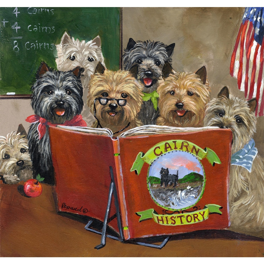 Precious Pet Paintings 1.5-ft x 1.04-ft Cairn Terrier Back to School Flag