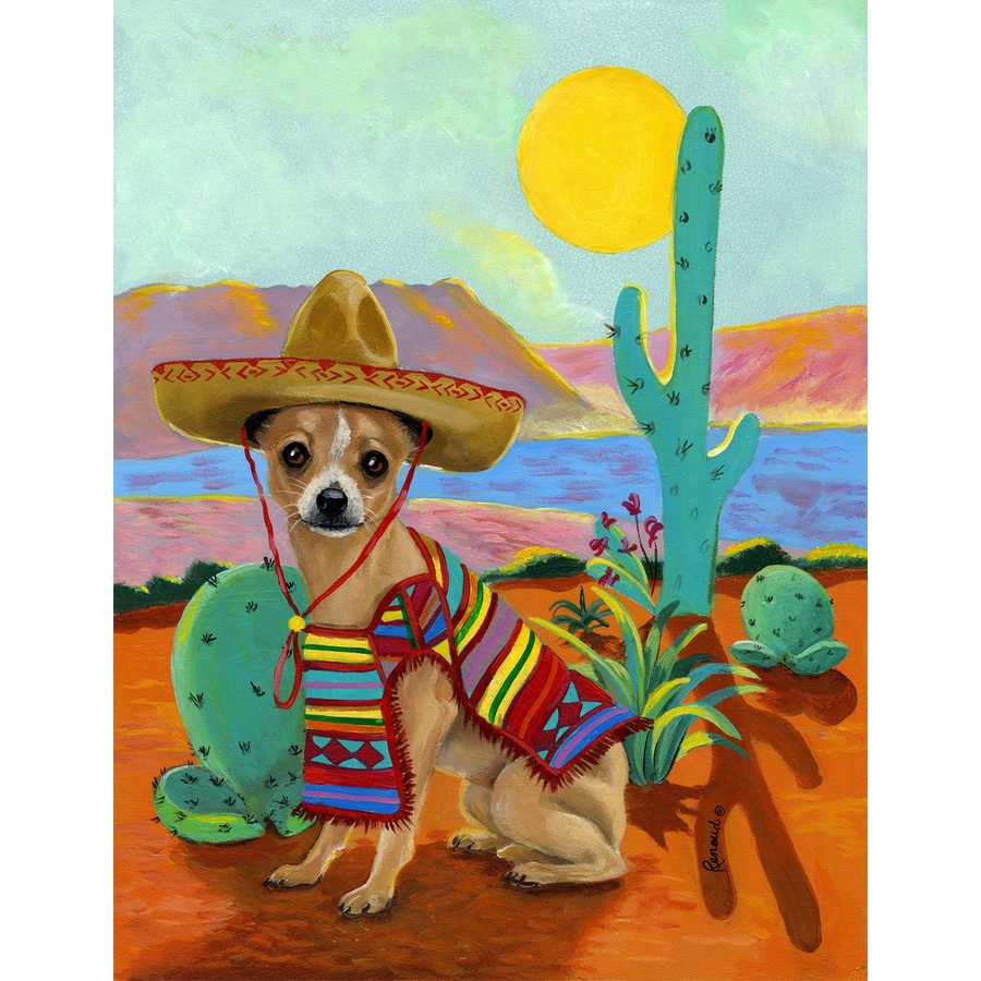 Precious Pet Paintings 1.5-ft x 1.04-ft Chihuahua Spring Flag
