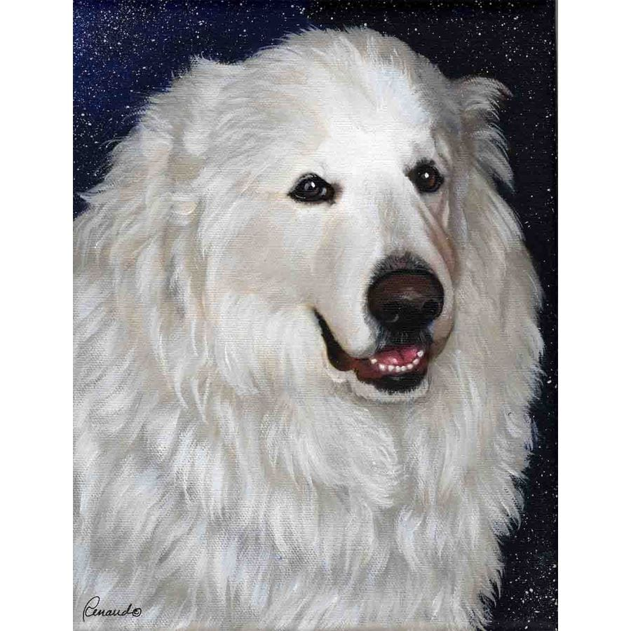 Precious Pet Paintings 1.5-ft x 1.04-ft Great Pyrenees  Flag