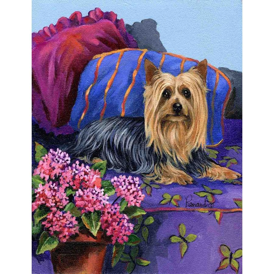 Precious Pet Paintings 1.5-ft x 1.04-ft Silky Terrier Spring Flag