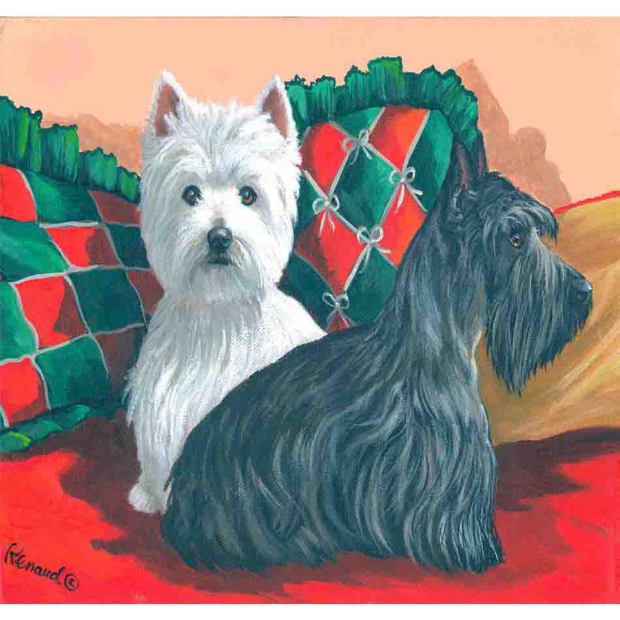 Precious Pet Paintings 1.5-ft x 1.04-ft Multi-Breed  Flag