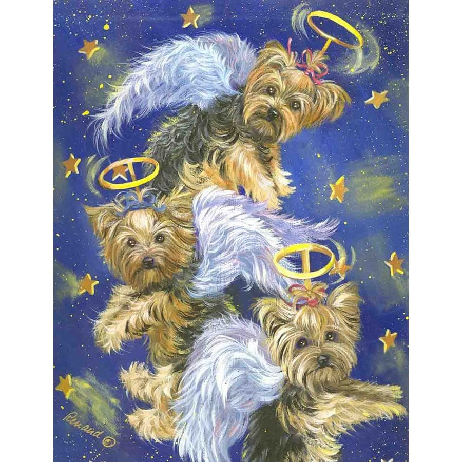 Precious Pet Paintings 1.5-ft x 1.04-ft Yorkshire Terrier  Flag