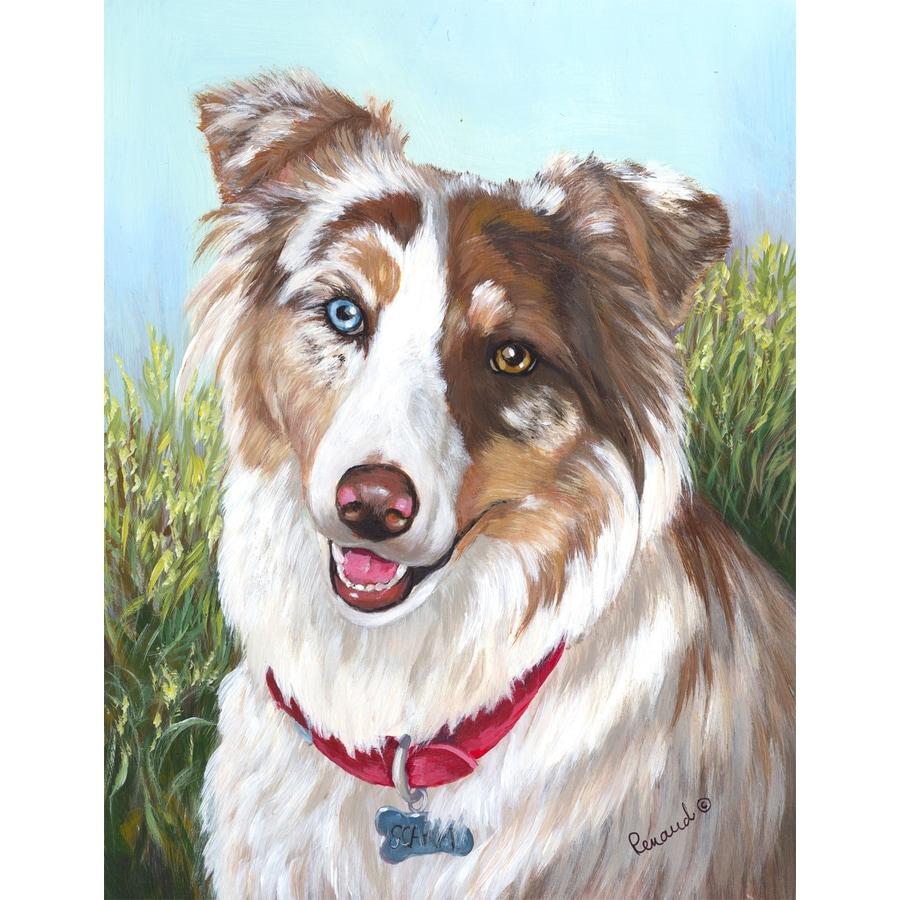 Precious Pet Paintings 3.33-ft x 2.33-ft Australian Shepherd  Flag