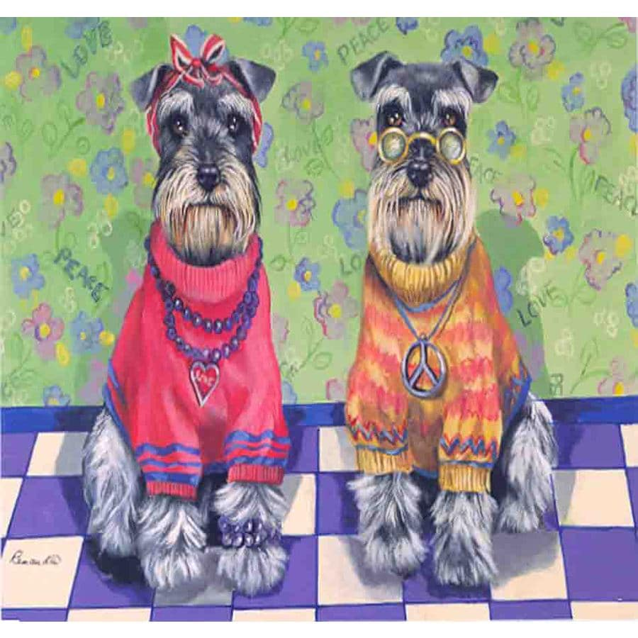 Precious Pet Paintings 3.33-ft x 2.33-ft Schnauzer  Flag