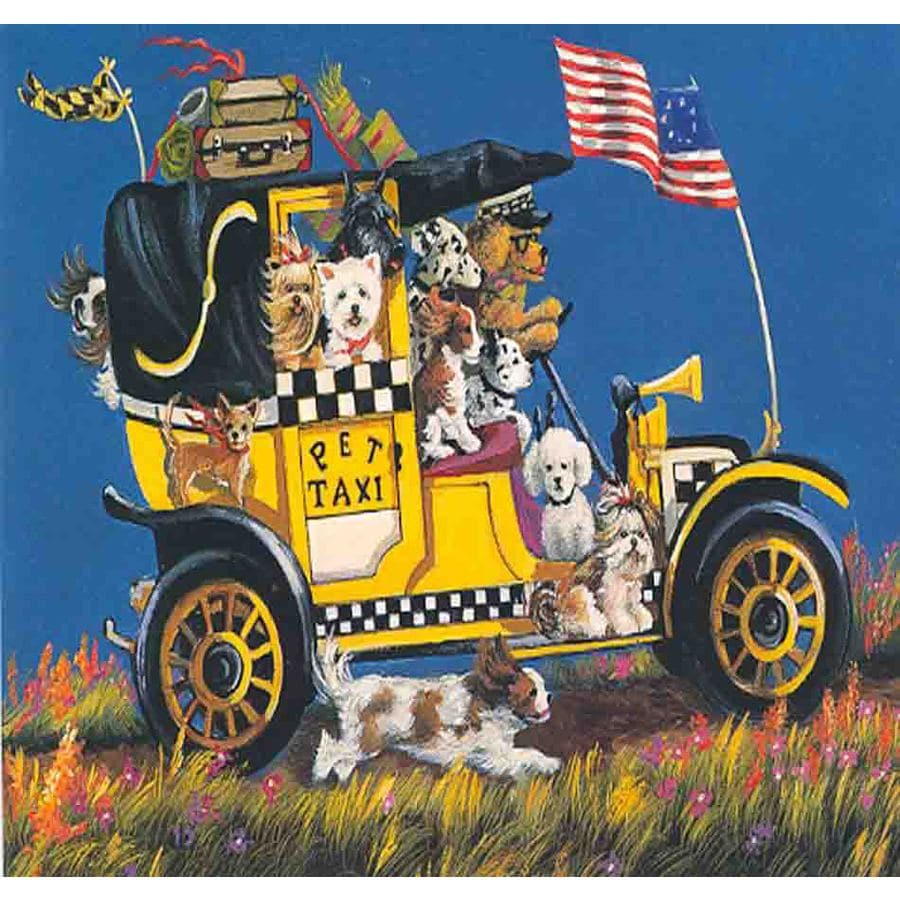 Precious Pet Paintings 3.33-ft x 2.33-ft Multi-Breed Dogs Flag