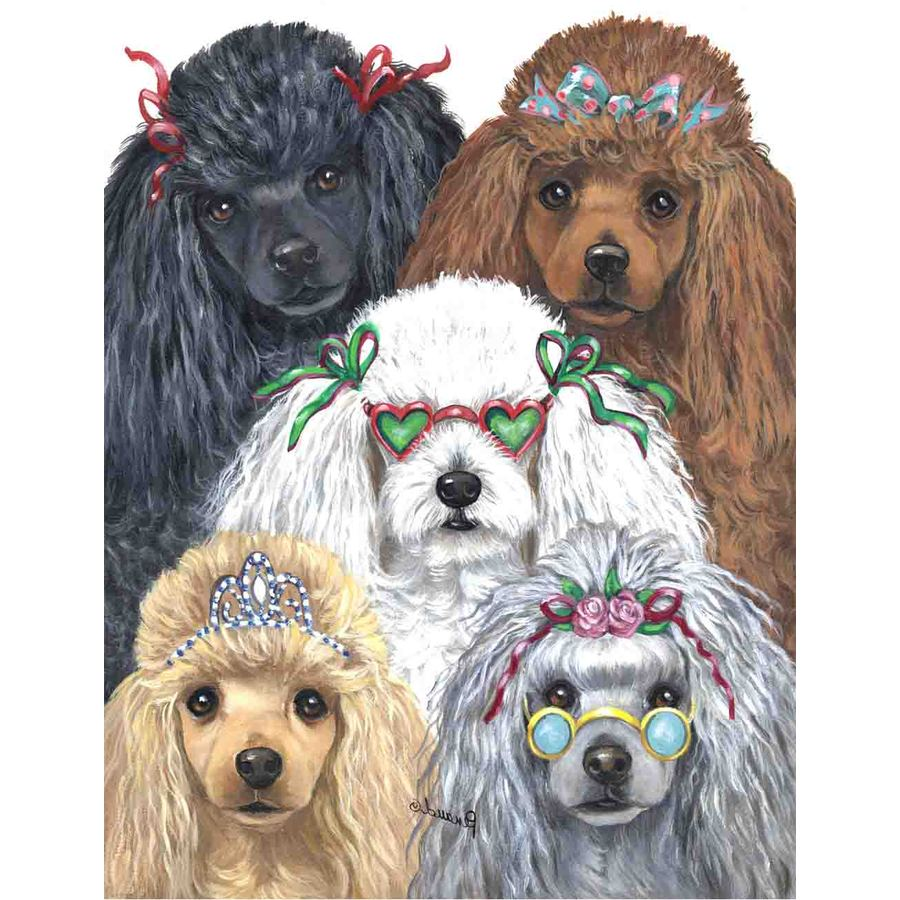 Precious Pet Paintings 3.33-ft x 2.33-ft Poodle  Flag