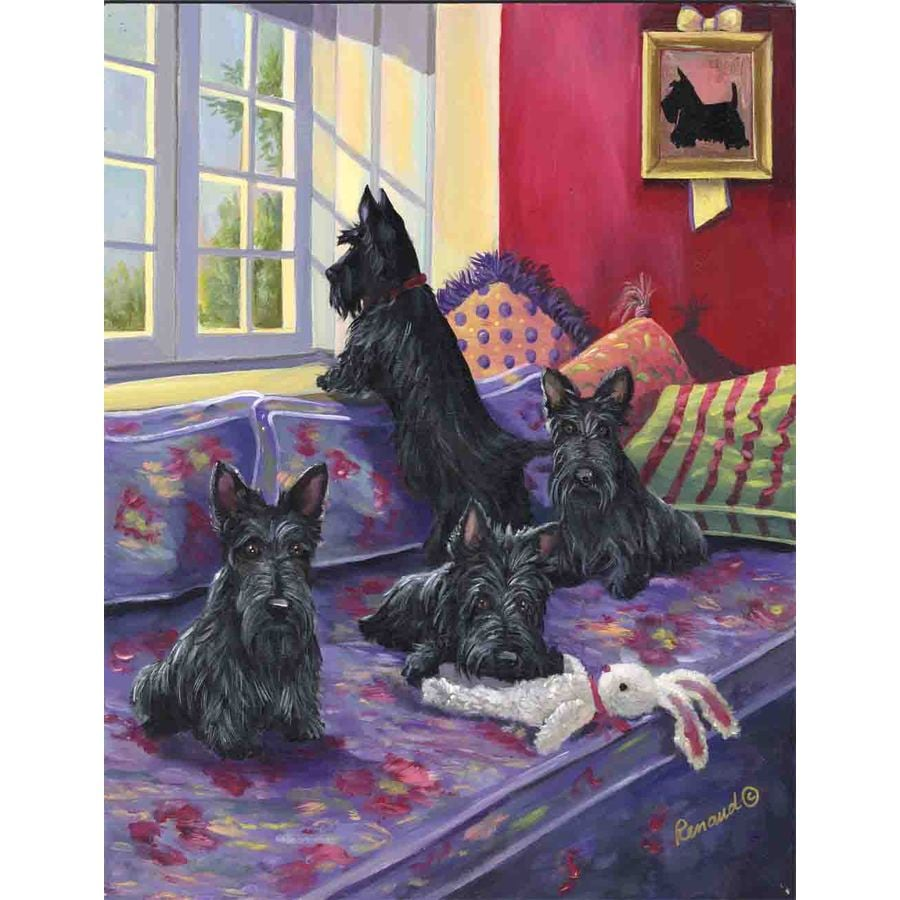 Precious Pet Paintings 3.33-ft x 2.33-ft Scottish Terrier  Flag