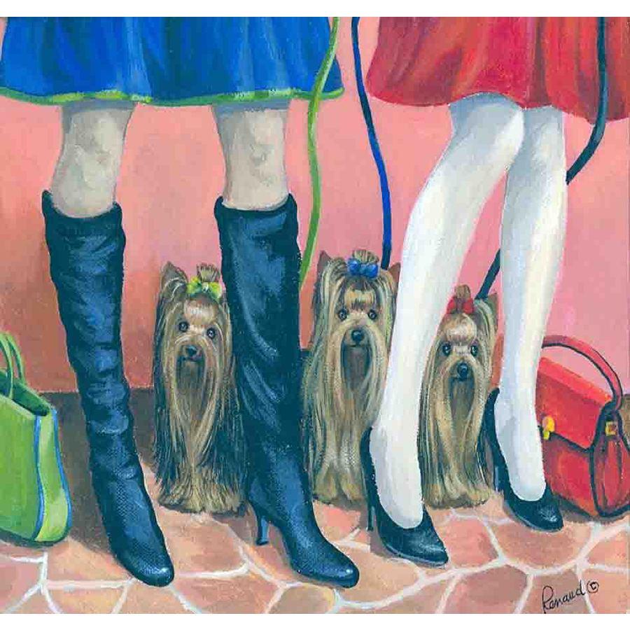Precious Pet Paintings 3.33-in x 2.33-in Yorkshire Terrier  Flag