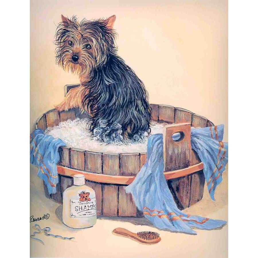 Precious Pet Paintings 3.33-in x 2.33-in Yorkshire Terrier Spring Flag