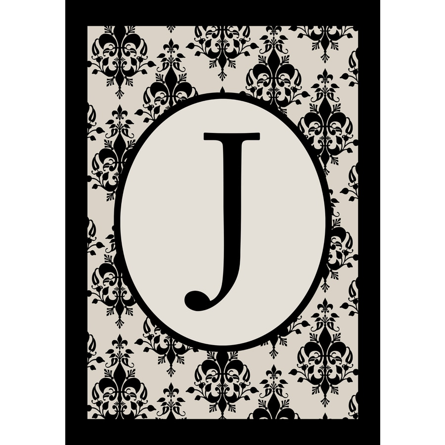 1.5-ft x 1.04-ft J Monogram Flag