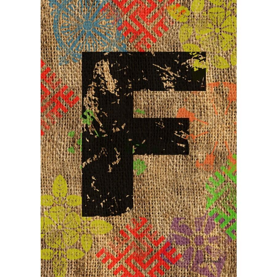 1.5-ft x 1.04-ft F Monogram Flag