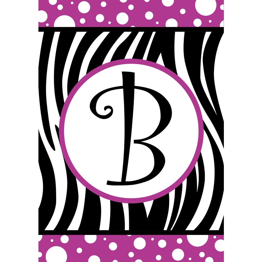 3.33-ft x 2.33-ft B Monogram Flag