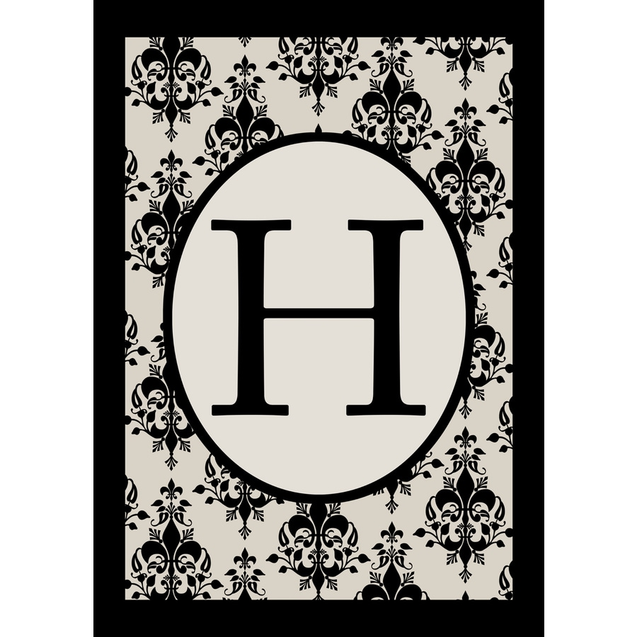 3.33-ft x 2.33-ft H Monogram Flag