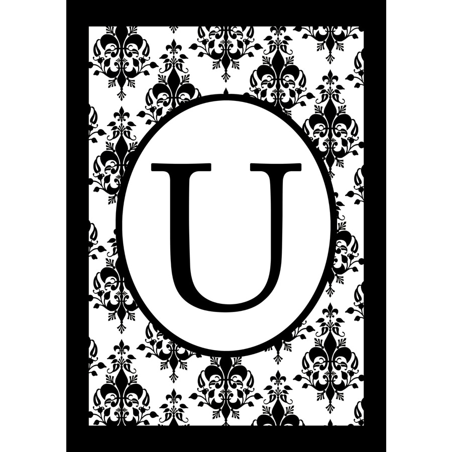 3.33-ft x 2.33-ft U Monogram Flag