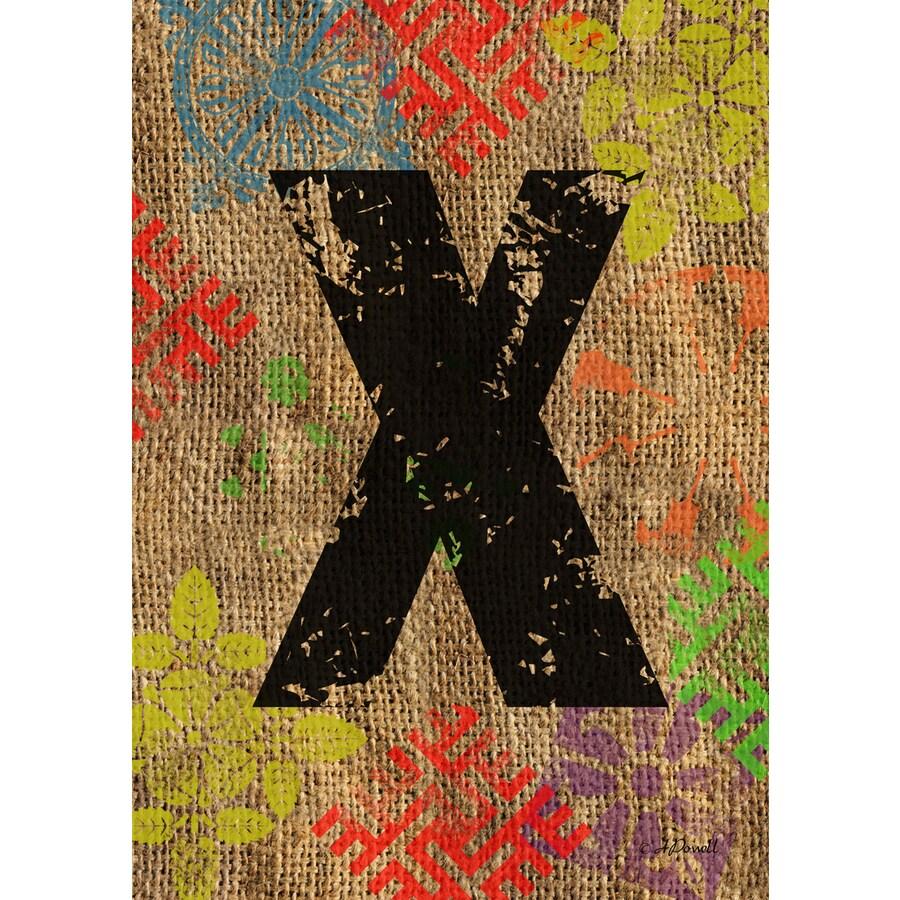 3.33-ft x 2.33-ft X Monogram Flag