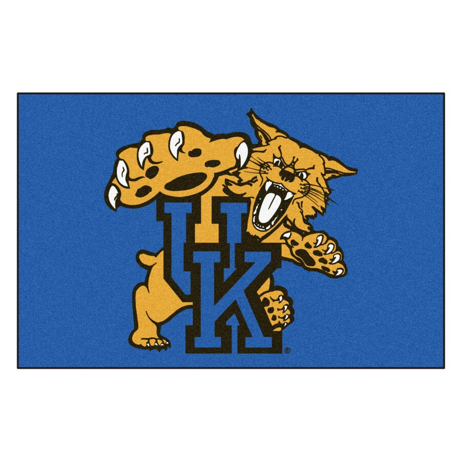 FANMATS University Of Kentucky Multicolor Rectangular Indoor Machine-Made Sports Throw Rug (Common: 1-1/2 x 2-1/2; Actual: 19-in W x 30-in L x 0-ft Dia)