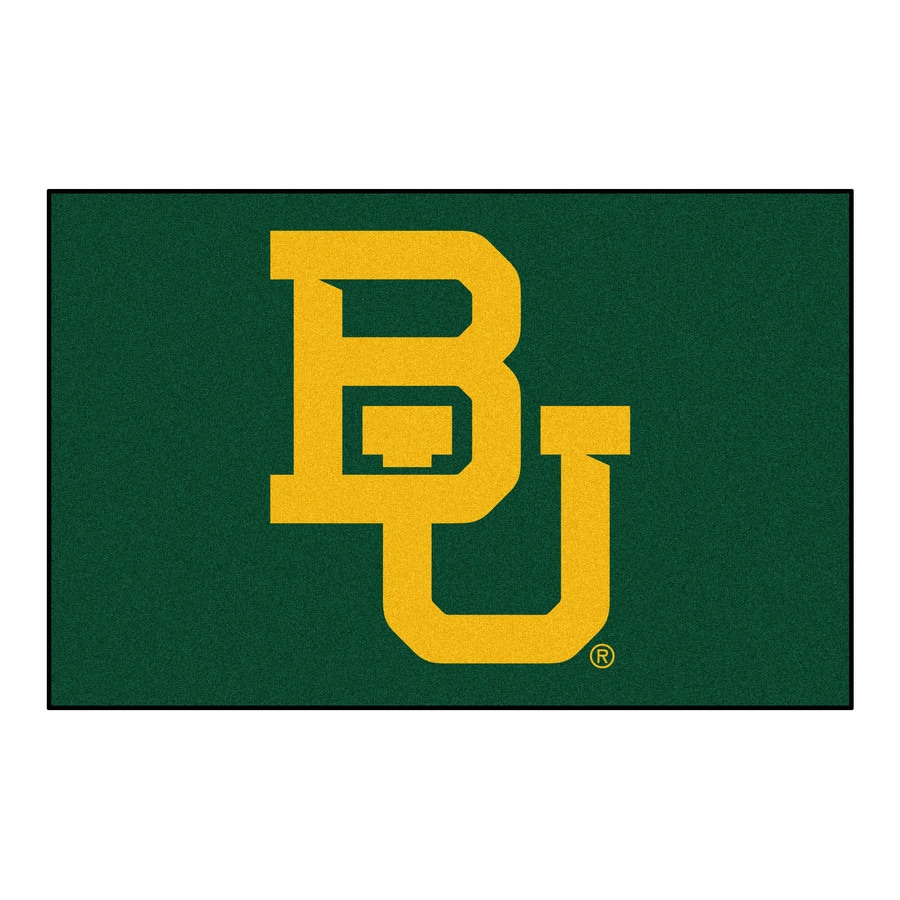 FANMATS Baylor University Multicolor Rectangular Indoor Machine-Made Sports Throw Rug (Common: 1-1/2 x 2-1/2; Actual: 19-in W x 30-in L x 0-ft Dia)