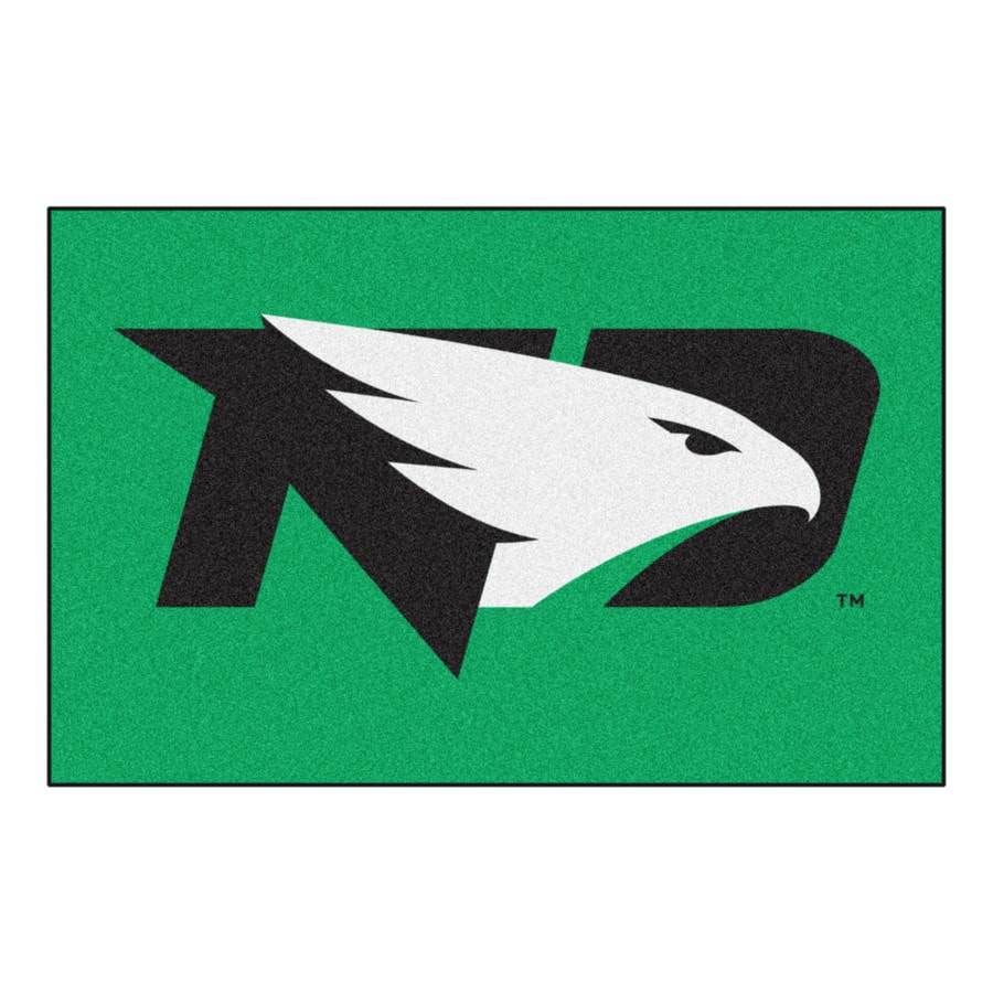 FANMATS University Of North Dakota Multicolor Rectangular Indoor Machine-Made Sports Throw Rug (Common: 1-1/2 x 2-1/2; Actual: 19-in W x 30-in L x 0-ft Dia)