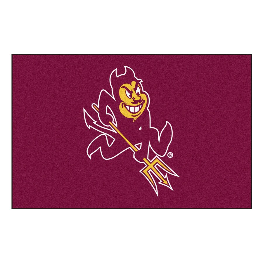 FANMATS Arizona State University Multicolor Rectangular Indoor Machine-Made Sports Throw Rug (Common: 1-1/2 x 2-1/2; Actual: 19-in W x 30-in L x 0-ft Dia)