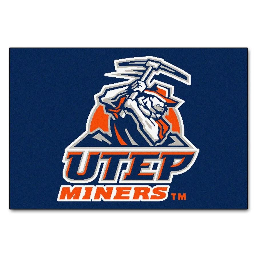 FANMATS University Of Texas El Paso Multicolor Rectangular Indoor Machine-Made Sports Throw Rug (Common: 1-1/2 x 2-1/2; Actual: 19-in W x 30-in L x 0-ft Dia)