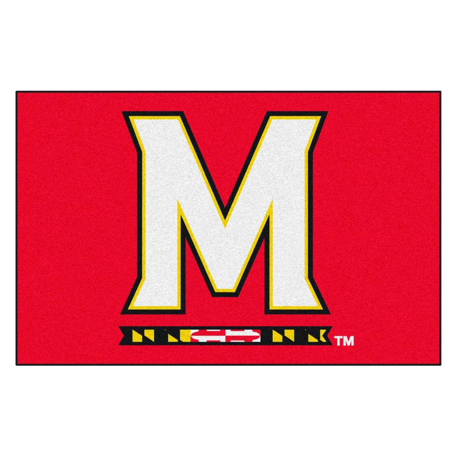 FANMATS University Of Maryland Multicolor Rectangular Indoor Machine-Made Sports Throw Rug (Common: 1-1/2 x 2-1/2; Actual: 19-in W x 30-in L x 0-ft Dia)