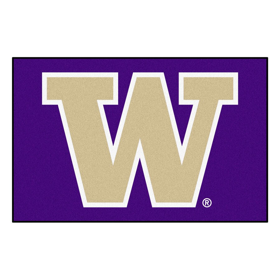 FANMATS University Of Washington Multicolor Rectangular Indoor Machine-Made Sports Throw Rug (Common: 1-1/2 x 2-1/2; Actual: 19-in W x 30-in L x 0-ft Dia)