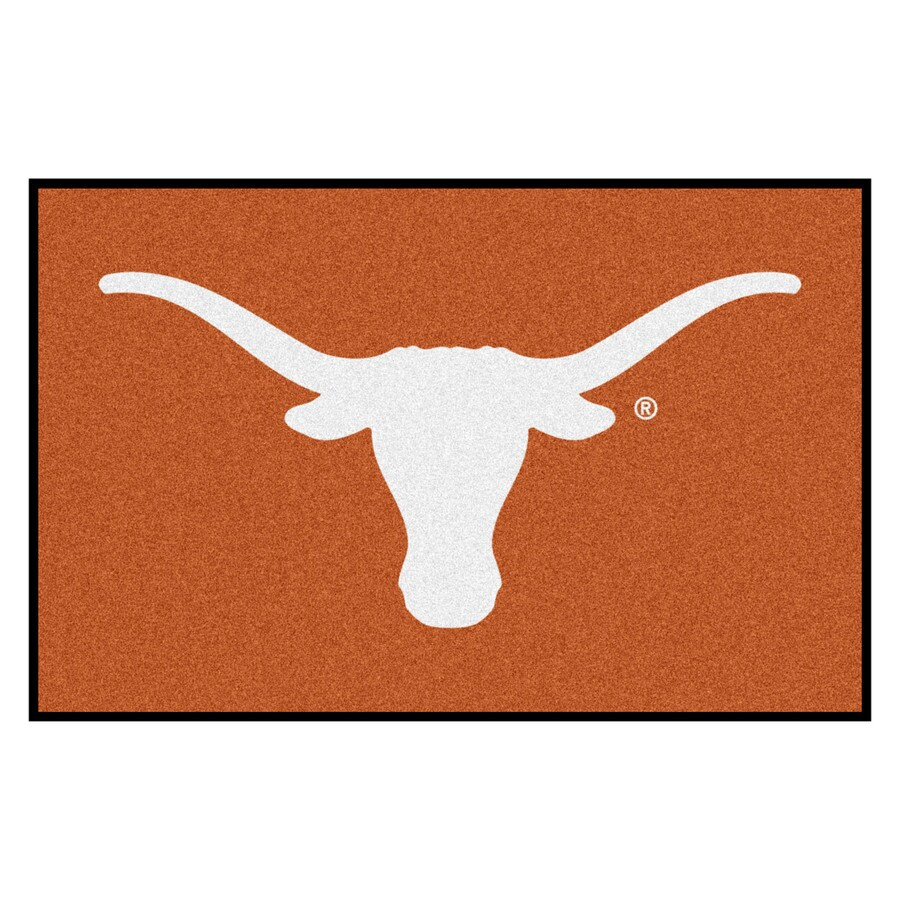 FANMATS University Of Texas Multicolor Rectangular Indoor Machine-Made Sports Throw Rug (Common: 1-1/2 x 2-1/2; Actual: 19-in W x 30-in L x 0-ft Dia)