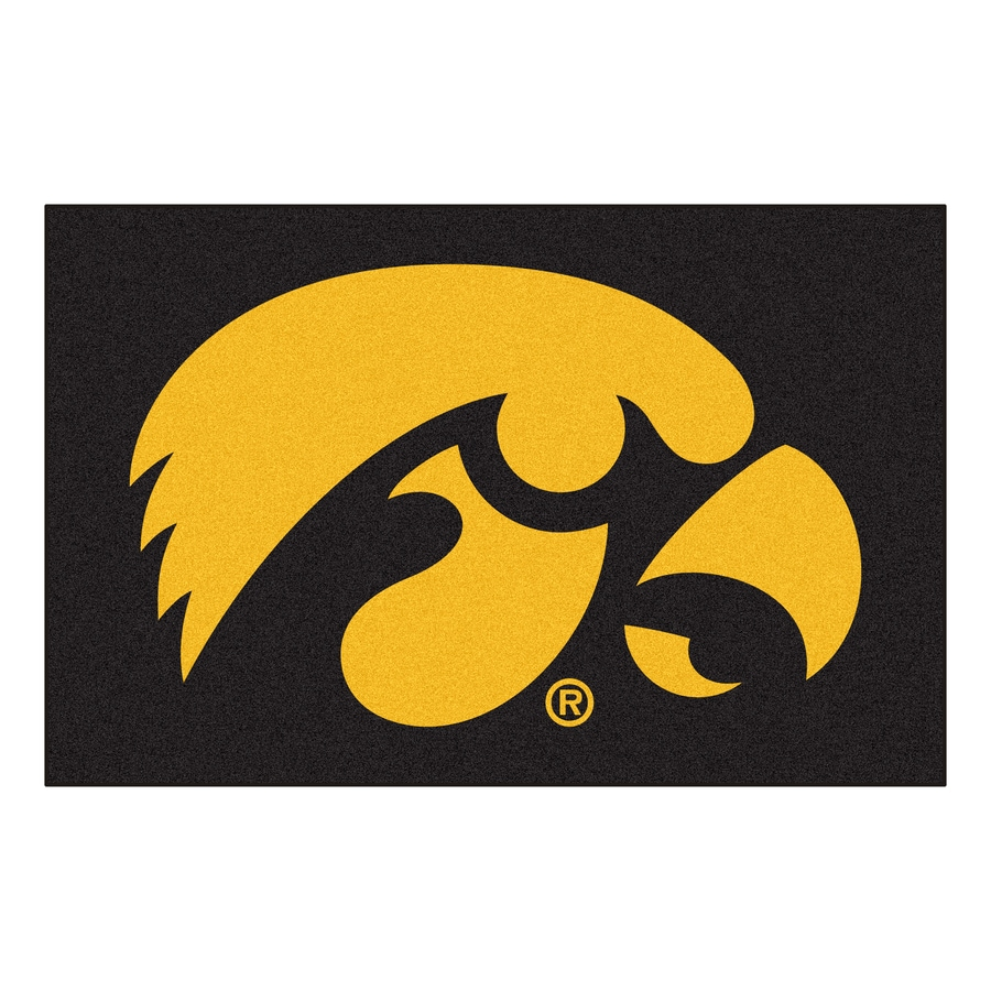 FANMATS University Of Iowa Multicolor Rectangular Indoor Machine-Made Sports Throw Rug (Common: 1-1/2 x 2-1/2; Actual: 19-in W x 30-in L x 0-ft Dia)