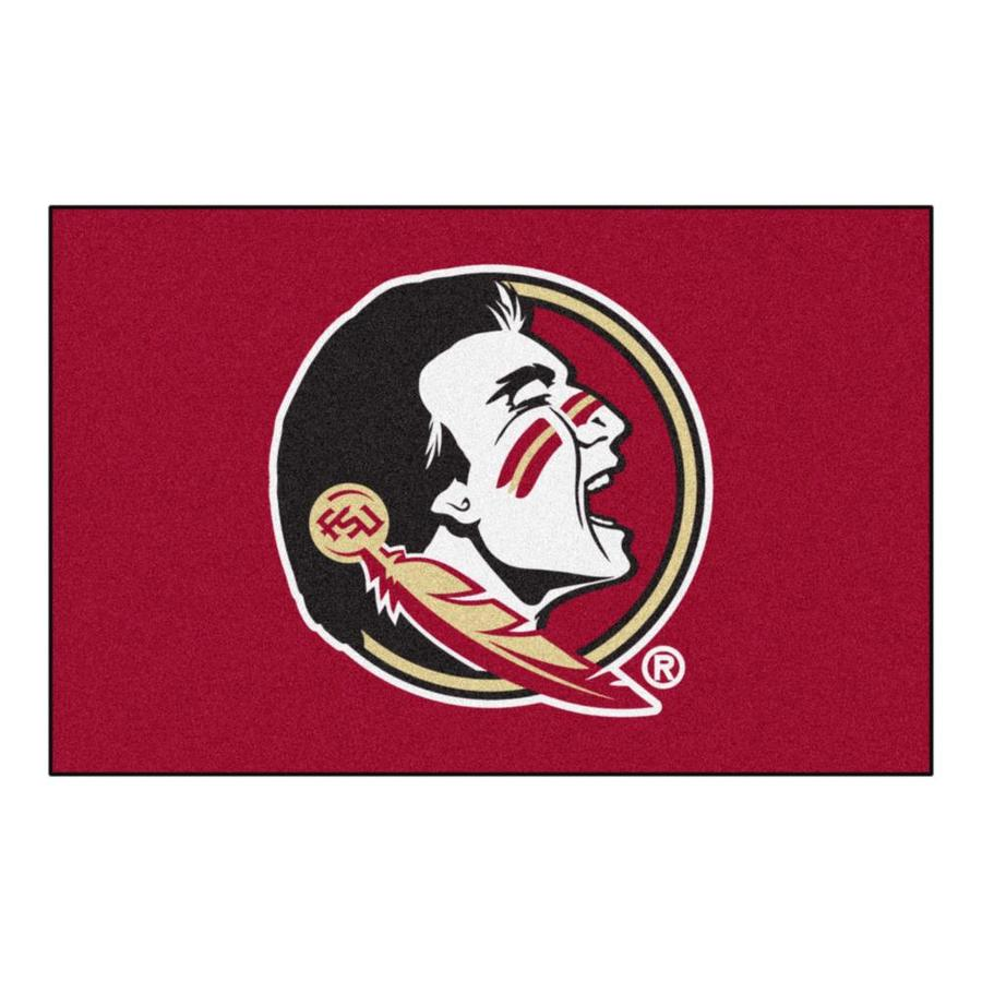 FANMATS Florida State University Multicolor Rectangular Indoor Machine-Made Sports Throw Rug (Common: 1-1/2 x 2-1/2; Actual: 19-in W x 30-in L x 0-ft Dia)