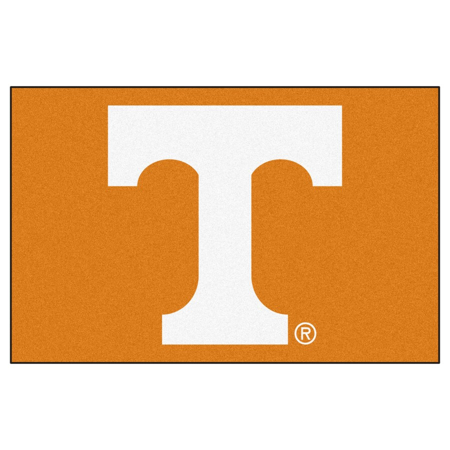 FANMATS University Of Tennessee Multicolor Rectangular Indoor Machine-Made Sports Throw Rug (Common: 1-1/2 x 2-1/2; Actual: 19-in W x 30-in L x 0-ft Dia)