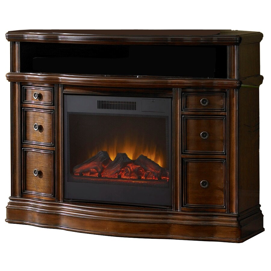 Shop Allen Roth 48 In W 4 800 Btu Mink Wood Wall Mount Electric Fireplace With Remote Control