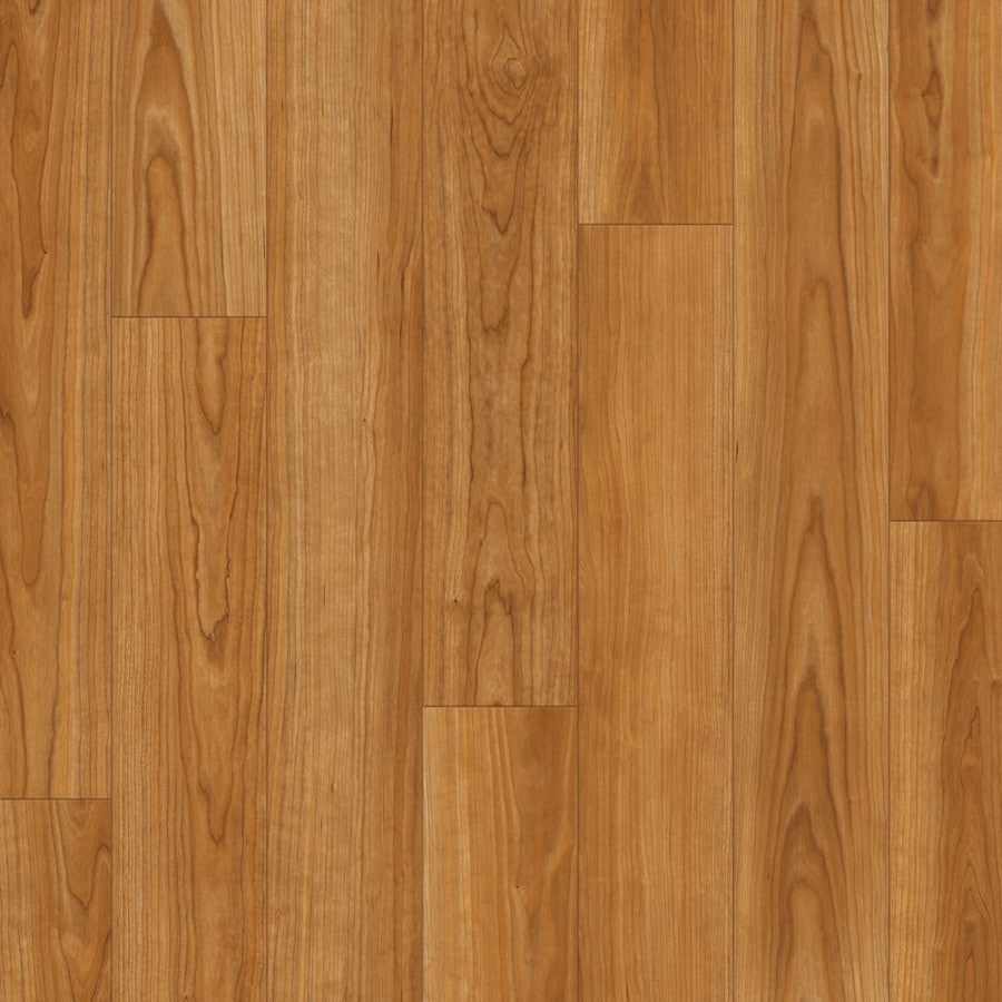 SwiftLock Laminate Smooth Cherry Wood Planks Sample (Stained Cherry)