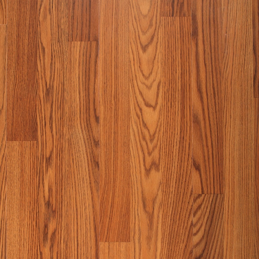 Project Source 8.07-in W x 47.64-in L Amber Oak Smooth Laminate Wood Planks