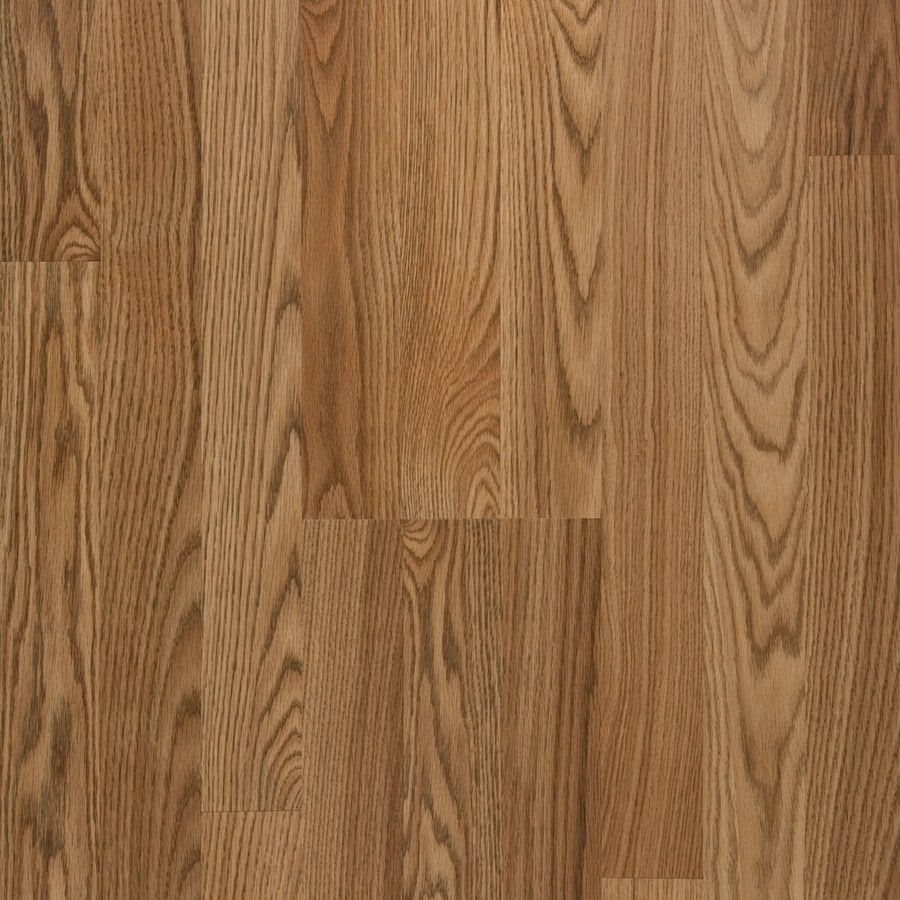 Style Selections Laminate 8.07-in W x 3.97-ft L Toffee Oak Embossed Laminate Floor Wood Planks