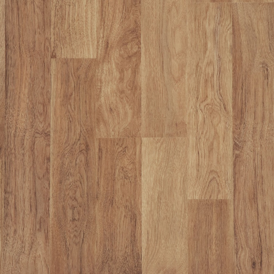 Style Selections 8.05-in W x 3.97-ft L Ginger Hickory Wood Plank Laminate Flooring