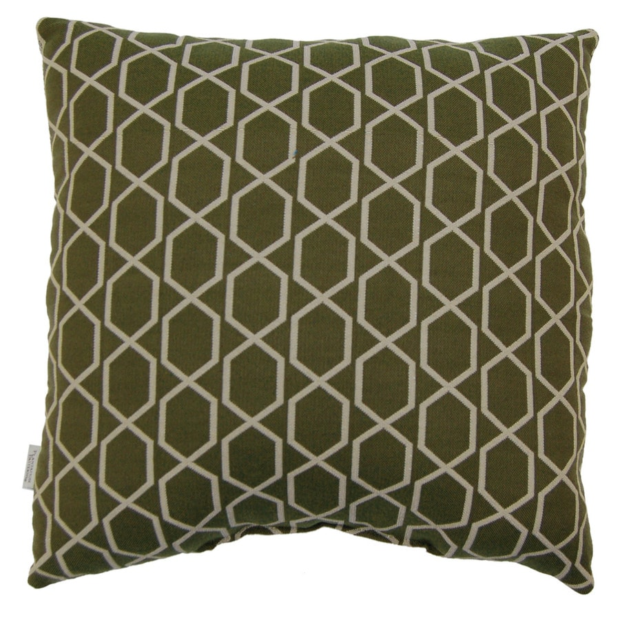 allen + roth Allen + Roth Green Geometric UV-Protected Outdoor Accent Pillow