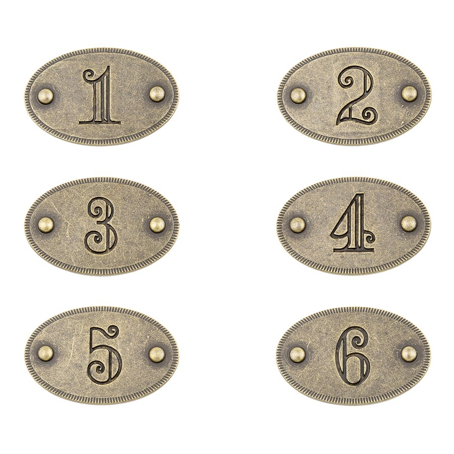 Continental Home Hardware 6-Pack Gold Cabinet Backplates