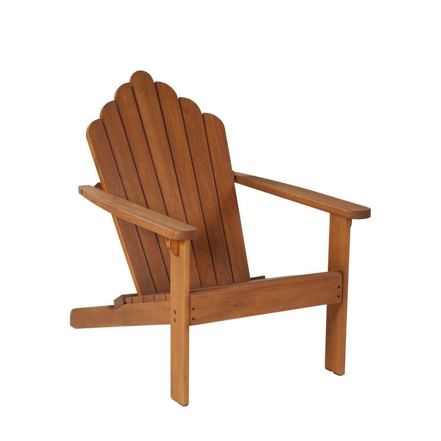 Garden Treasures Westerwood Natural Wood Adirondack Chair