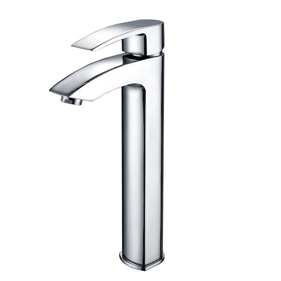 Kraus Vessel Mixer Chrome 1-Handle Vessel WaterSense Bathroom Faucet (Drain Included)