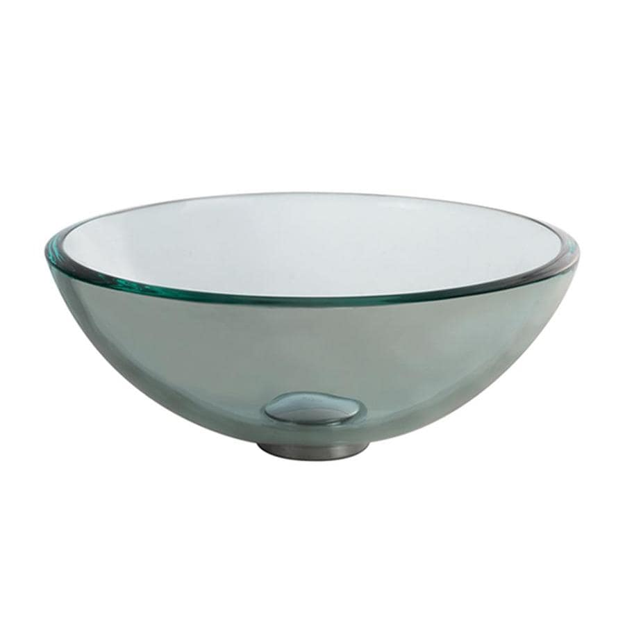 Tempered Glass Vessel Sink : ... Kraus Clear Tempered Glass Vessel Round Bathroom Sink at Lowes.com
