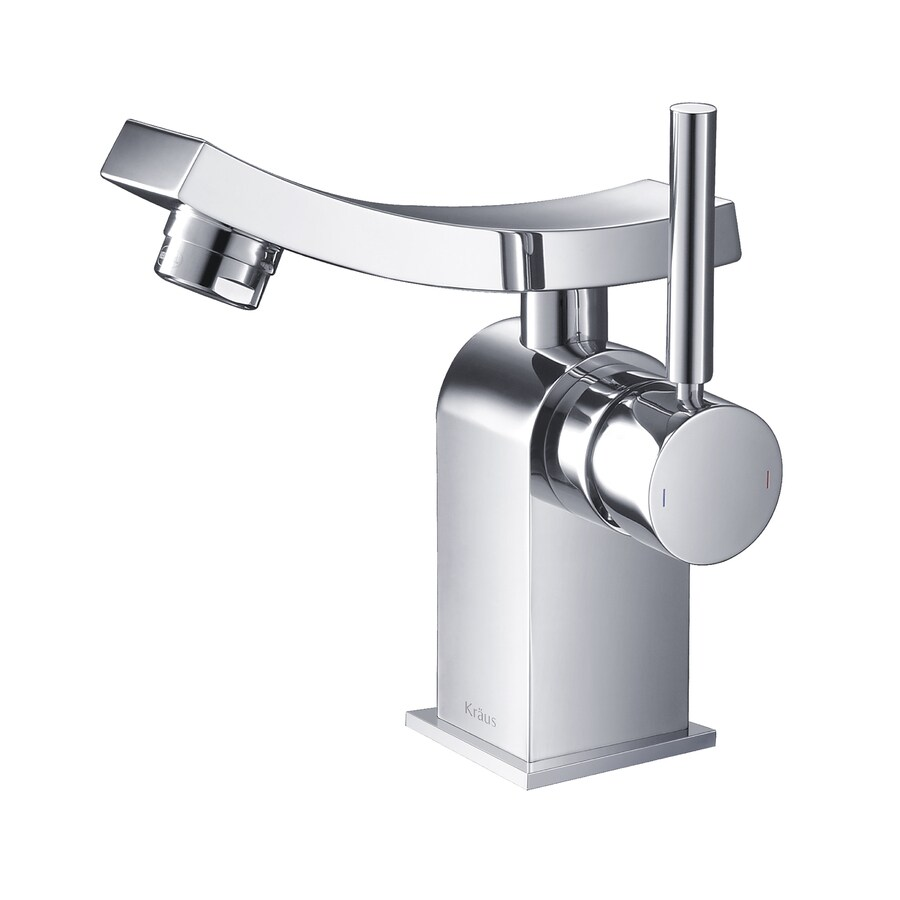 Kraus Unicus Chrome 1-Handle Single Hole WaterSense Bathroom Faucet