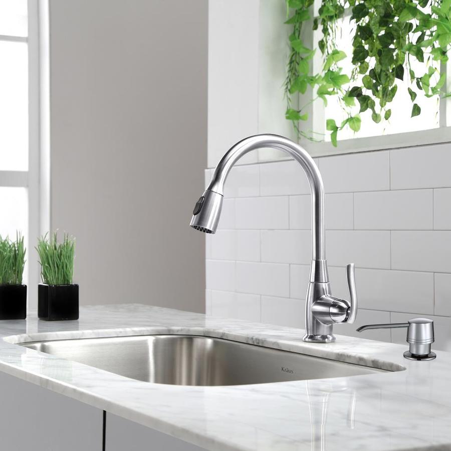 Kraus Premium Kitchen Faucet Chrome 1-Handle Pull-Down Sink/Counter Mount Traditional Kitchen Faucet